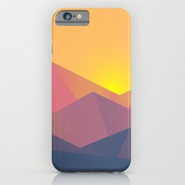 graphic mountains iPhone Case