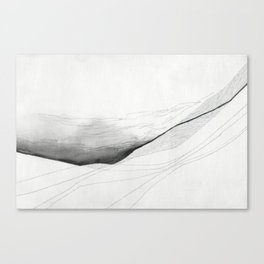 Cloud Slips Landscape Drawing Canvas Print
