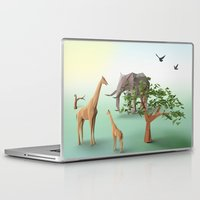 africa Laptop & iPad Skins featuring Africa by CharismArt