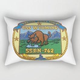 USS WYOMING (SSBN-742) PATCH Rectangular Pillow