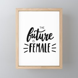 The future is female - Smash The Patriarchy Framed Mini Art Print