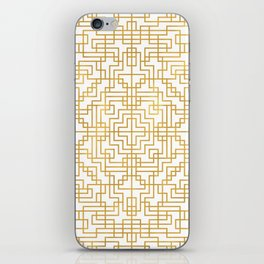 Geometric Symmetry Gold 2 iPhone Skin