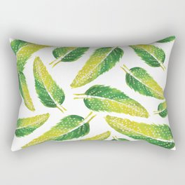 Vivid Feathers Rectangular Pillow