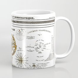 Sphere Armillaire - Astronomical and Cosmographical Chart Coffee Mug