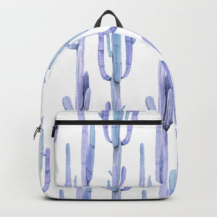 Blue Cactus Stack Pattern Backpack