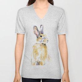 Hare Bunny Unisex V-Neck