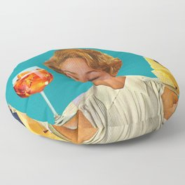 Weekend Plans (Cocktails & Cheese) Floor Pillow