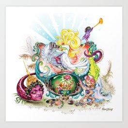 Pop Rooster Art Print