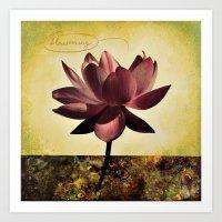 Single Lotus Yellow Art Print
