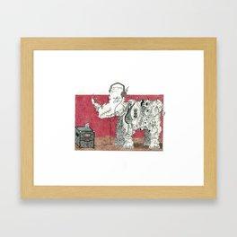 Rock Rhino Framed Art Print