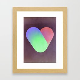Heart in color Framed Art Print
