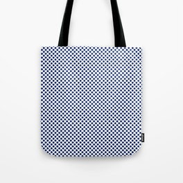Deep Sapphire Polka Dots Tote Bag