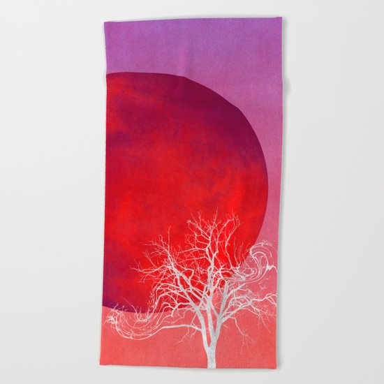 For You I Would Carry the Moon Beach Towel