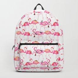 Flamingos making a splash! Backpack