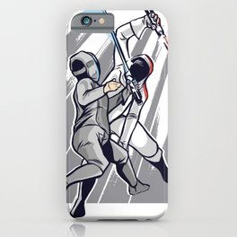 Fencing with light swords iPhone Case