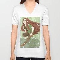 robin hood V-neck T-shirts featuring Robin Hood by Nano Rain