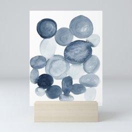 Pebbles Watercolor Abstract Mini Art Print