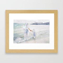 On the Shore: Thetis and Achilles Framed Art Print