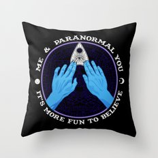 Me & Paranormal You - James Roper Design - Ouija (white lettering) Throw Pillow