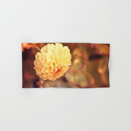 Autumn dahlia Hand & Bath Towel