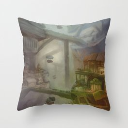Retro Metro Throw Pillow