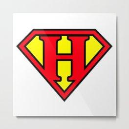 Super H - Initials Metal Print