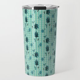 country blue flowers pattern Travel Mug