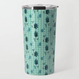 country blue flowers pattern Travel Mug