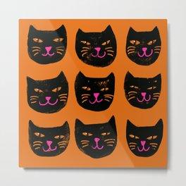Cute Halloween kitties Metal Print