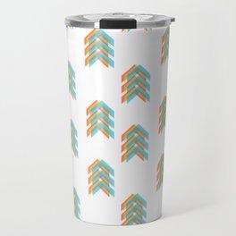 Primary Colour Chevron Arrows Travel Mug