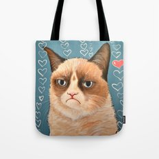Grumpy Cat ... Love You Tote Bag