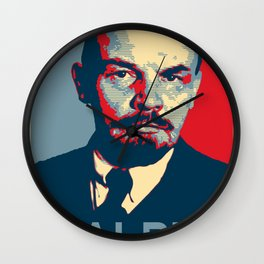The walrus was... Lenin Lebowski Wall Clock