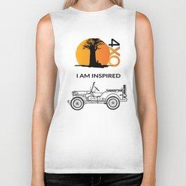 I AM INSPIRED JEEP CJ Biker Tank