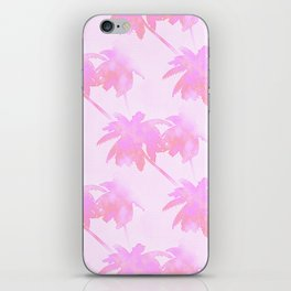 Pink Palm Trees Coastal Pattern iPhone Skin