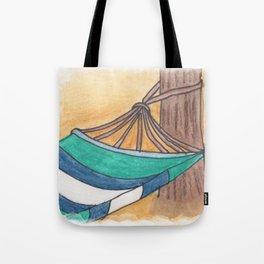 Just Swaying Away-Watercolor Hammock Design Tote Bag