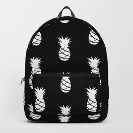 Black and White Pineapple - Modern Tropical Pattern Backpack
