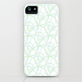 Swirls of Blue and Green iPhone Case