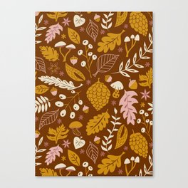 Fall Foliage in Gold + Brown Canvas Print