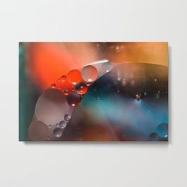 Oil and Water Abstract Metal Print