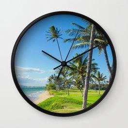 Waipuilani Beach Kihei Maui Hawaii Wall Clock