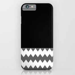 Chevron Gray Black And White - Glamour iPhone Case