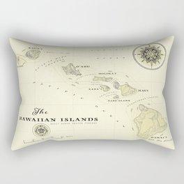 Hawaiian Islands [vintage inspired] map print Rectangular Pillow