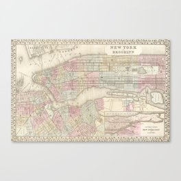 new york city old map Canvas Print