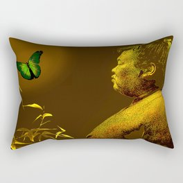 The short-lived life of the butterfly and the sumo wrestler Rectangular Pillow