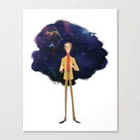 carl sagan Canvas Prints featuring Carl Sagan by Alan Carvalho