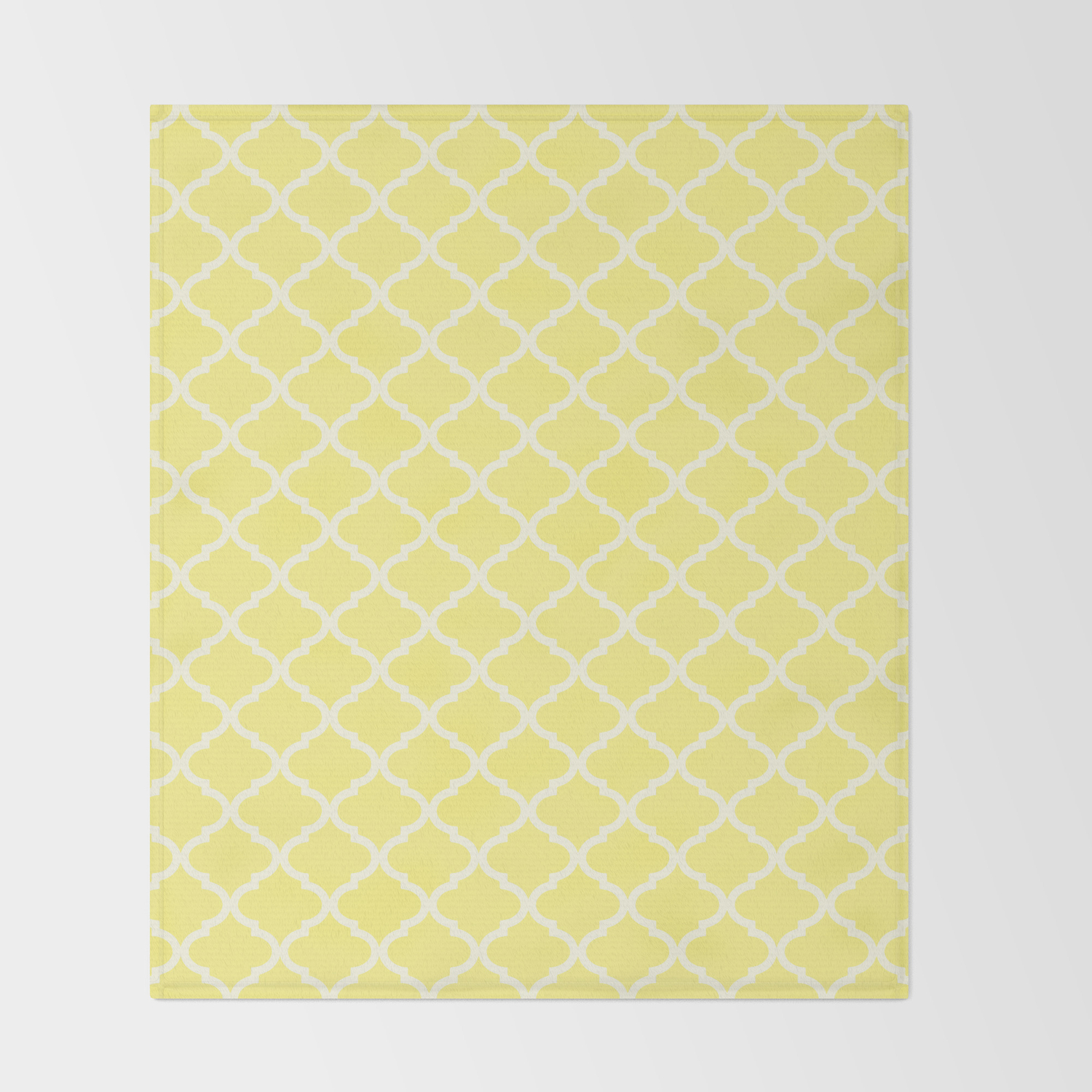 Light Yellow Throw Blanket