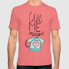 Call Me Maybe Pomegranate Mens Fitted Tee MEDIUM