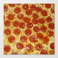 pizza Canvas Prints featuring Pizza by Katieb1013