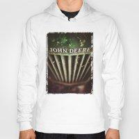 john green Hoodies featuring John Deere by Justin Alan Casey