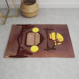 "Coles Phillip's 'Fadeaway Girl' Illustration  ""The Roadster"" Rug"